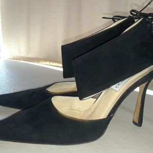 Jimmy Choo London Black Suede Shoes 38 Italy